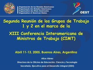 Alice Abreu Directora de la Oficina de Educación, Ciencia y Tecnología