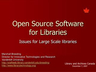 Open Source Software for Libraries