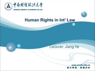 Human Rights in Int� Law