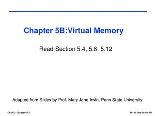 Chapter  5B:Virtual Memory
