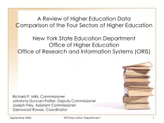 A Review of Higher Education Data Comparison of the Four Sectors of Higher Education  New York State Education Departmen