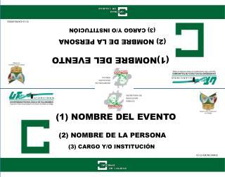 (2) NOMBRE DE LA PERSONA