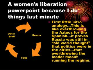 A women's liberation powerpoint because I do things last minute