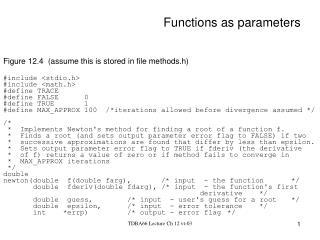 Functions as parameters