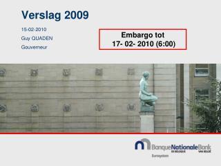 Verslag 2009