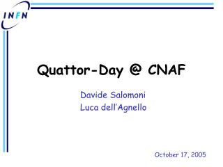 Quattor-Day @ CNAF