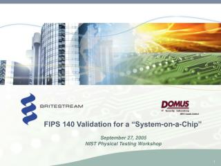 FIPS 140 Validation for a  System-on-a-Chip