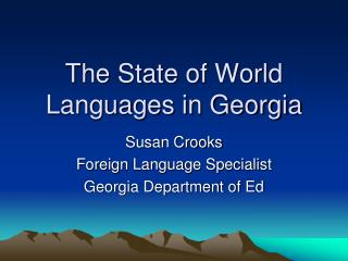 The State of World Languages in Georgia