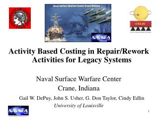 Activity Based Costing in Repair/Rework Activities for Legacy Systems Naval Surface Warfare Center
