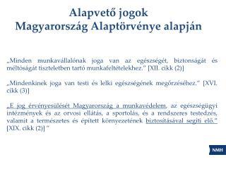 Alapvető jogok Magyarország Alaptörvénye alapján