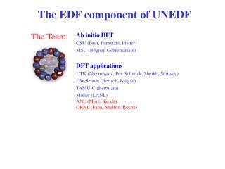 The EDF component of UNEDF