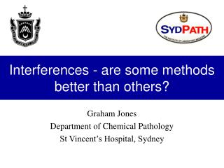 Interferences - are some methods better than others