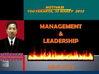 MOTIVASI  YOGYAKARTA,  30 MARET  2012