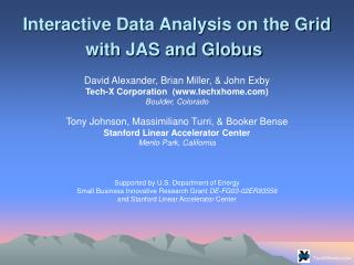 Interactive Data Analysis on the Grid with JAS and Globus