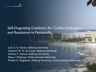 Self-Organizing Coalitions for Conflict Evaluation and Resolution in Femtocells
