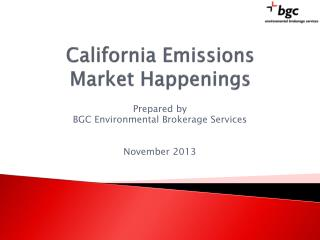 California Emissions Market Happenings