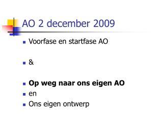 AO 2 december 2009