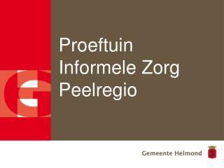 Proeftuin Informele Zorg Peelregio
