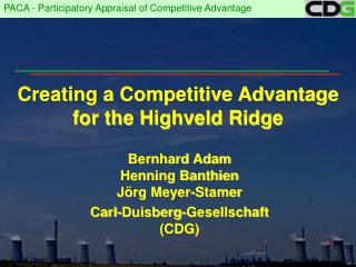 Creating a Competitive Advantage for the Highveld Ridge