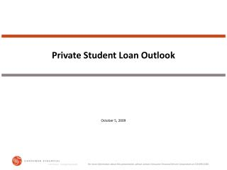 Private Student Loan Outlook
