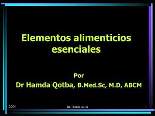 Elementos alimenticios esenciales