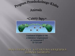 Animaloterapia Program Przedszkolnego Klubu Animals