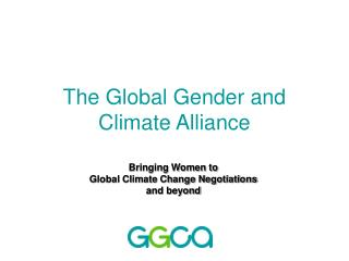 The Global Gender and Climate Alliance