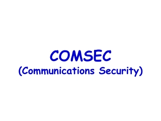 Office of Emergency Communications   Strategic Issues Briefing
