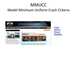 MMUCC Model Minimum Uniform Crash Criteria