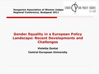 Hungarian Association of Women Judges (HAWJ Regional Conference, Budapest 2011