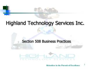 Highland Technology Services Inc.