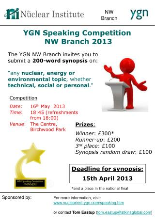 YGN Speaking Competition  NW  Branch 2013