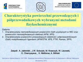 Zespół:  A.  Jab ł o ń ski  , J.W. Sobczak, M. Krawczyk, W. Lisowski,