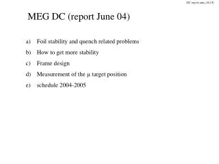 MEG DC (report June 04)