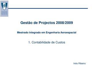 Gestão de Projectos 2008/2009 Mestrado Integrado em Engenharia Aeroespacial