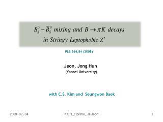Jeon, Jong Hun (Yonsei University)
