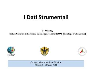 I Dati Strumentali G.  Milana ,