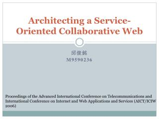 Architecting a Service-Oriented Collaborative Web