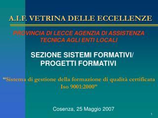 A.I.F. VETRINA DELLE ECCELLENZE