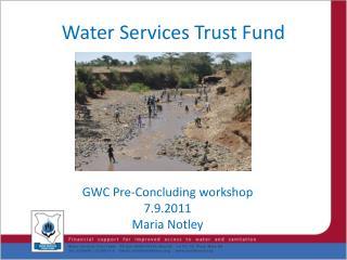 Water Services Trust Fund