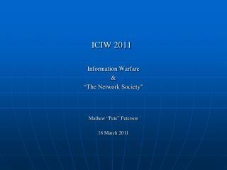 ICIW 2011