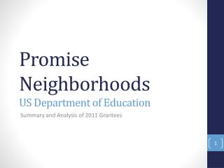 Promise Neighborhoods US Department of Education
