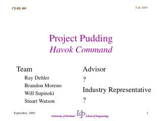 Project Pudding Havok Command
