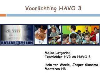 Voorlichting  HAVO  3