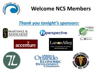 Welcome NCS Members
