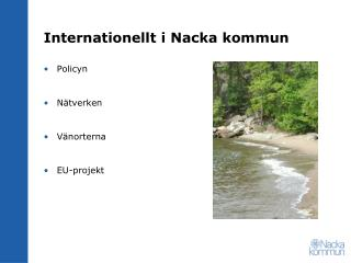 Internationellt i Nacka kommun