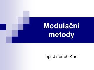 Modulační metody