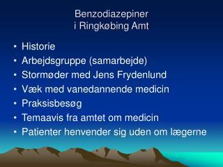 Benzodiazepiner  i Ringkøbing Amt