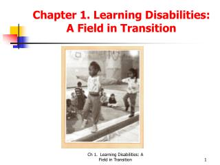 Chapter 1. Learning Disabilities: A Field in Transition