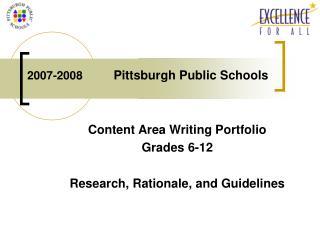 2007-2008          Pittsburgh Public Schools